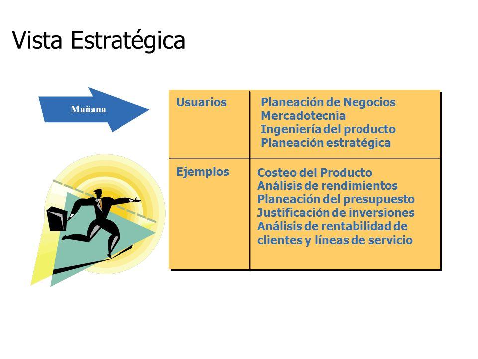 Vista Estratégica Usuarios Planeación de Negocios Mercadotecnia