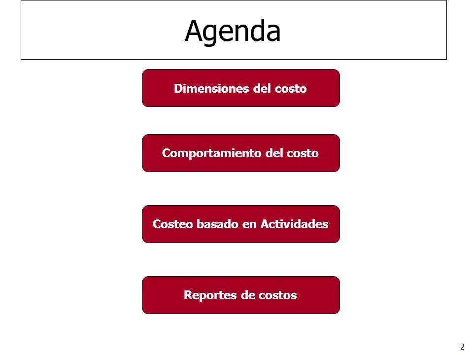 Comportamiento del costo Costeo basado en Actividades