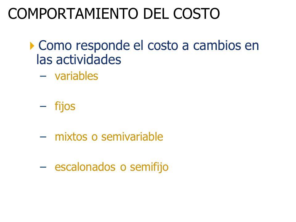 COMPORTAMIENTO DEL COSTO