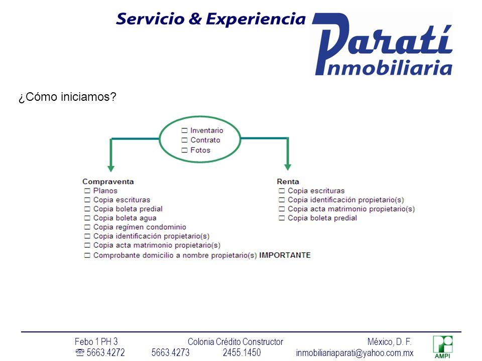 ¿Cómo iniciamos Febo 1 PH 3 Colonia Crédito Constructor México, D. F.