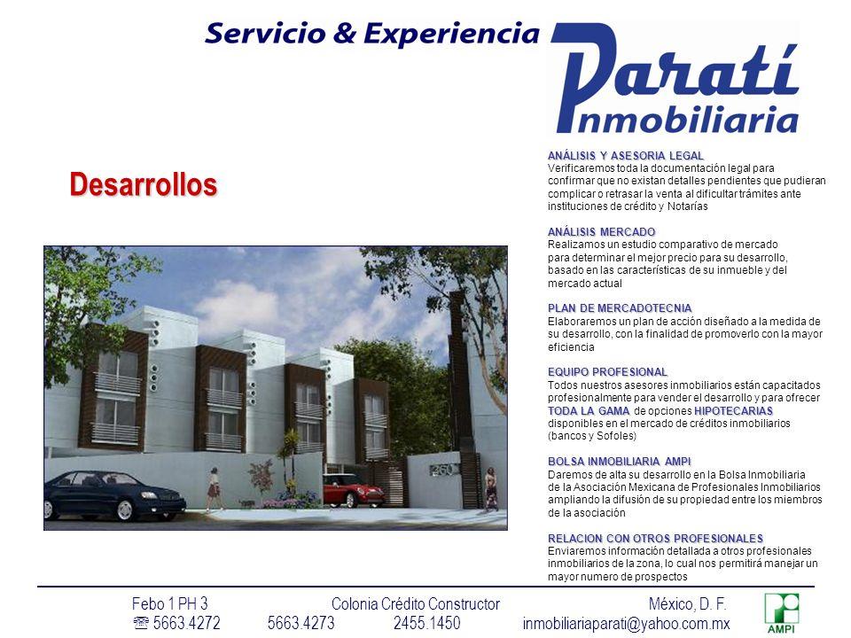 Desarrollos Febo 1 PH 3 Colonia Crédito Constructor México, D. F.