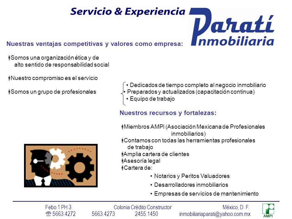 Nuestras ventajas competitivas y valores como empresa: