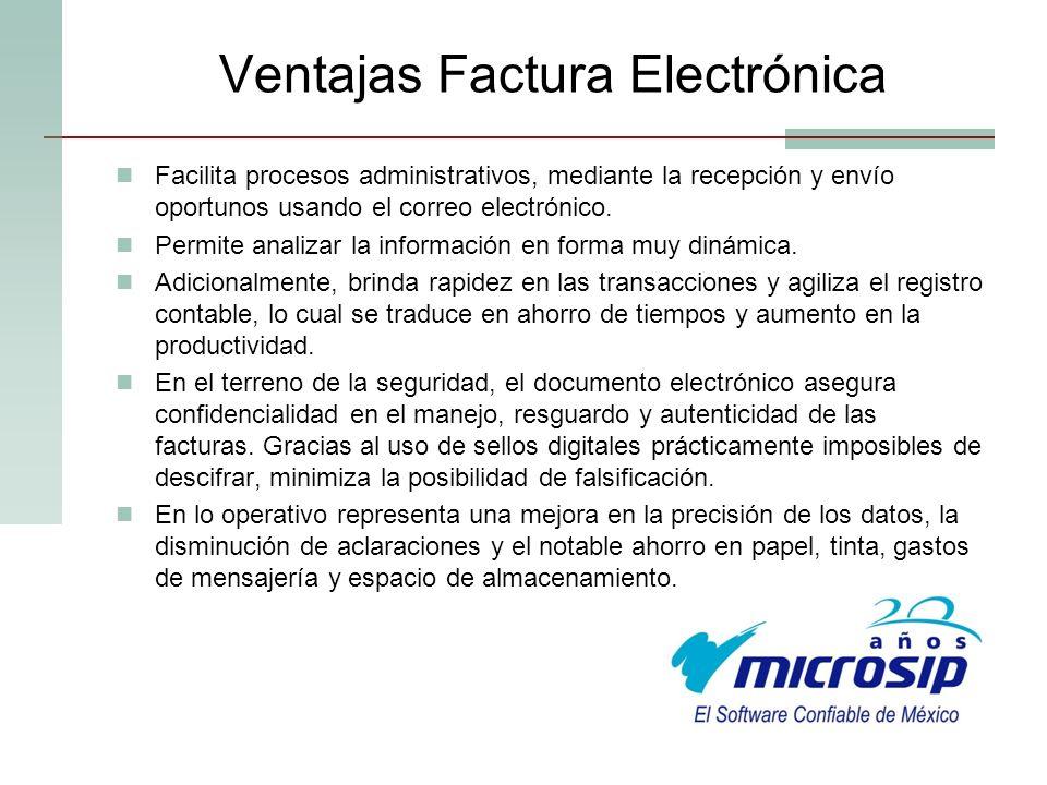 Ventajas Factura Electrónica