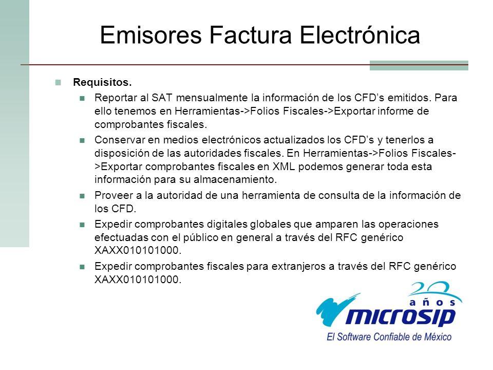 Emisores Factura Electrónica