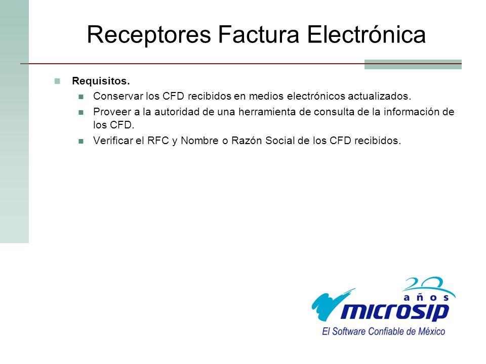 Receptores Factura Electrónica