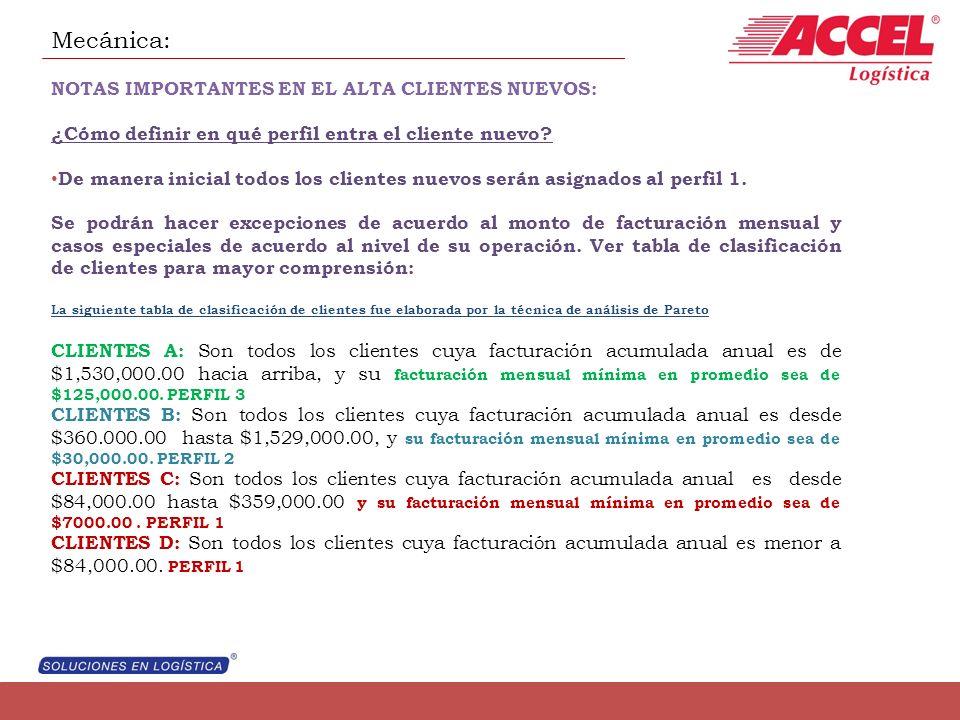 Mecánica: NOTAS IMPORTANTES EN EL ALTA CLIENTES NUEVOS: