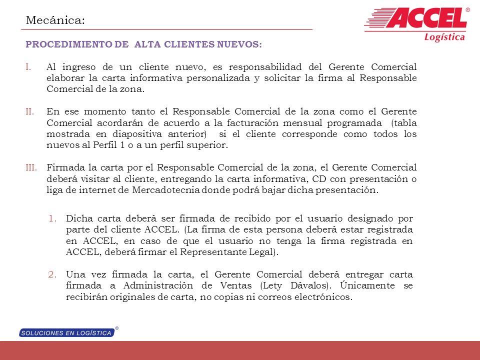 Mecánica: PROCEDIMIENTO DE ALTA CLIENTES NUEVOS: