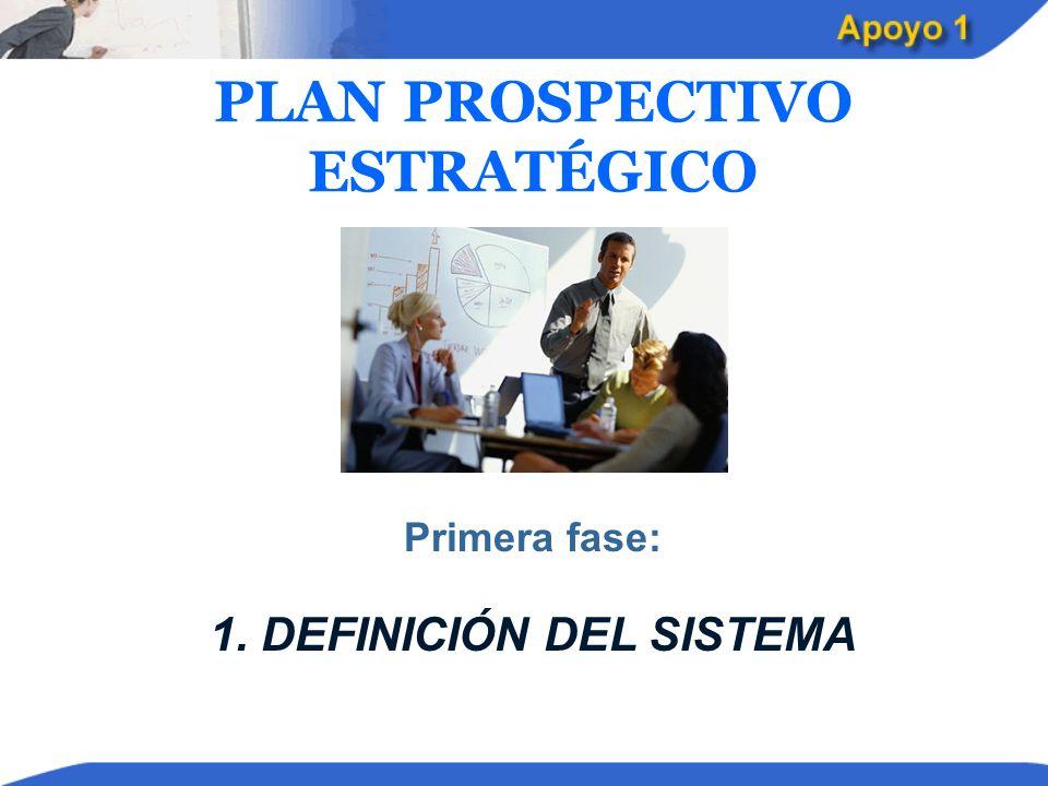 PLAN PROSPECTIVO ESTRATÉGICO 1. DEFINICIÓN DEL SISTEMA