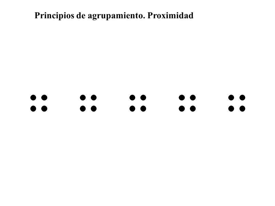 Principios de agrupamiento. Proximidad