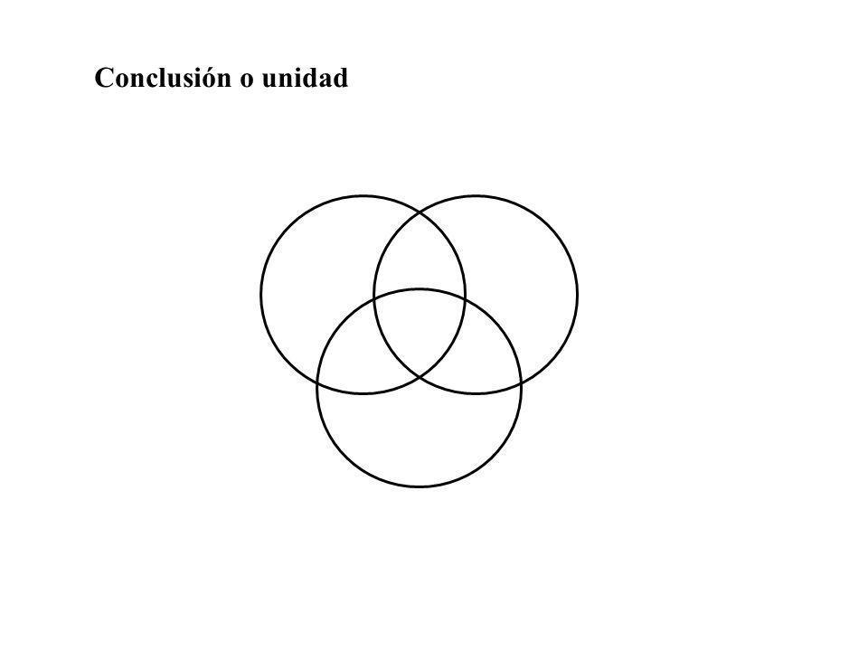 Conclusión o unidad