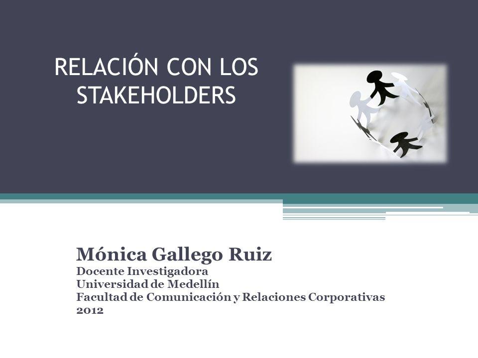 RELACIÓN CON LOS STAKEHOLDERS