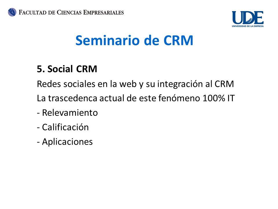 Seminario de CRM 5. Social CRM