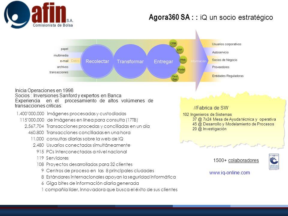 Agora360 SA : : iQ un socio estratégico