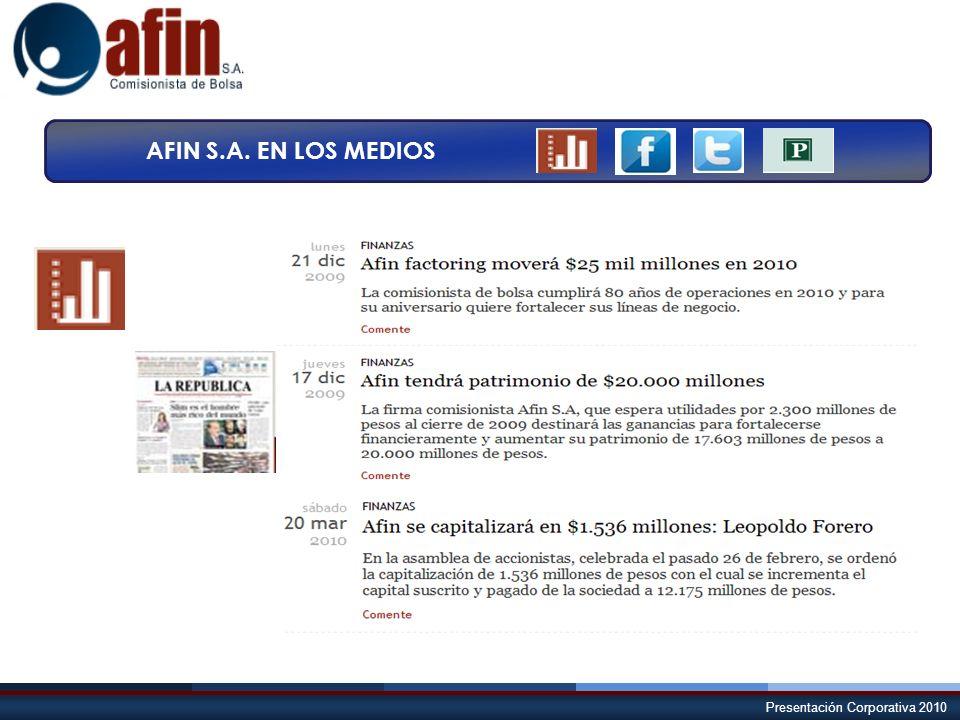 AFIN S.A. EN LOS MEDIOS