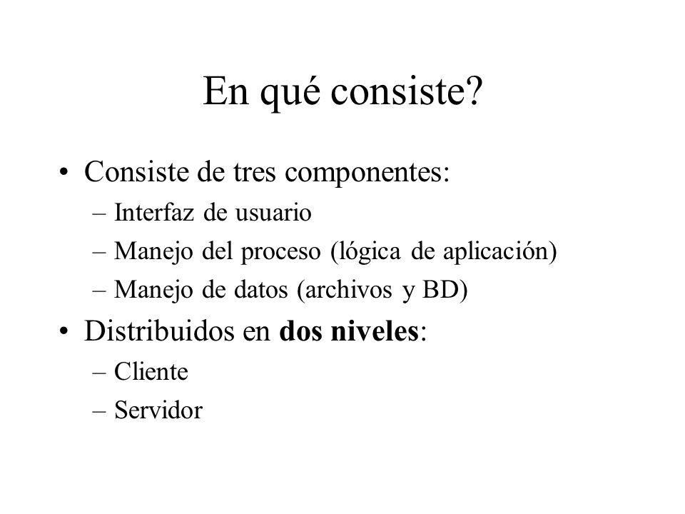 En qué consiste Consiste de tres componentes: