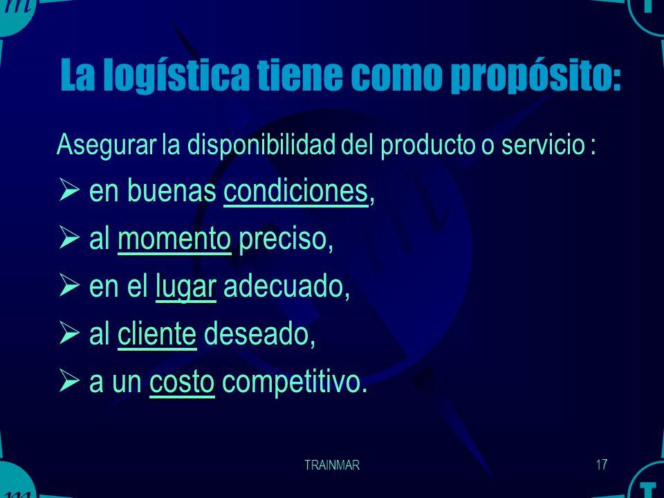 La logística tiene como propósito: