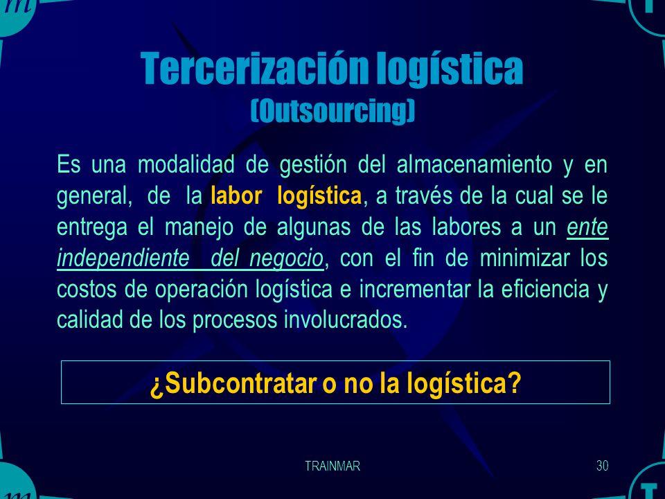 Tercerización logística (Outsourcing)