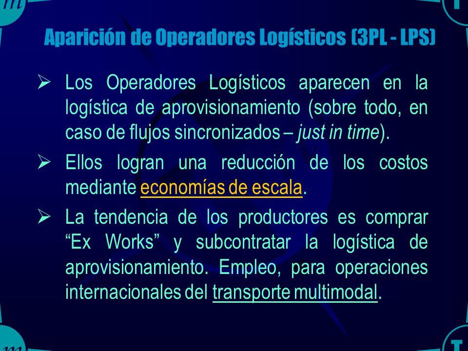 Aparición de Operadores Logísticos (3PL - LPS)