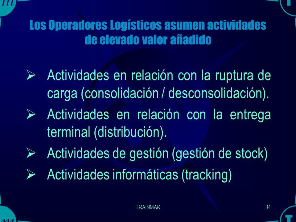 Los Operadores Logísticos asumen actividades de elevado valor añadido