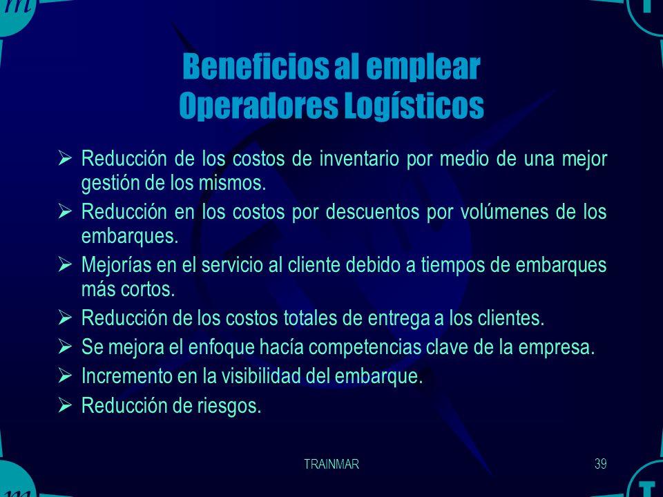 Beneficios al emplear Operadores Logísticos
