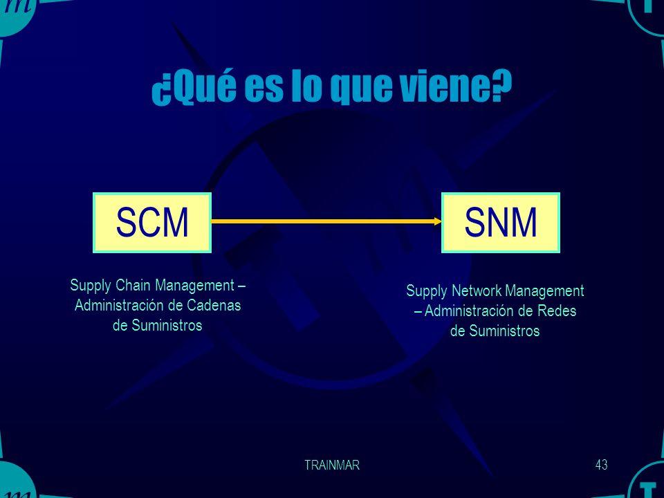 ¿Qué es lo que viene SCM SNM
