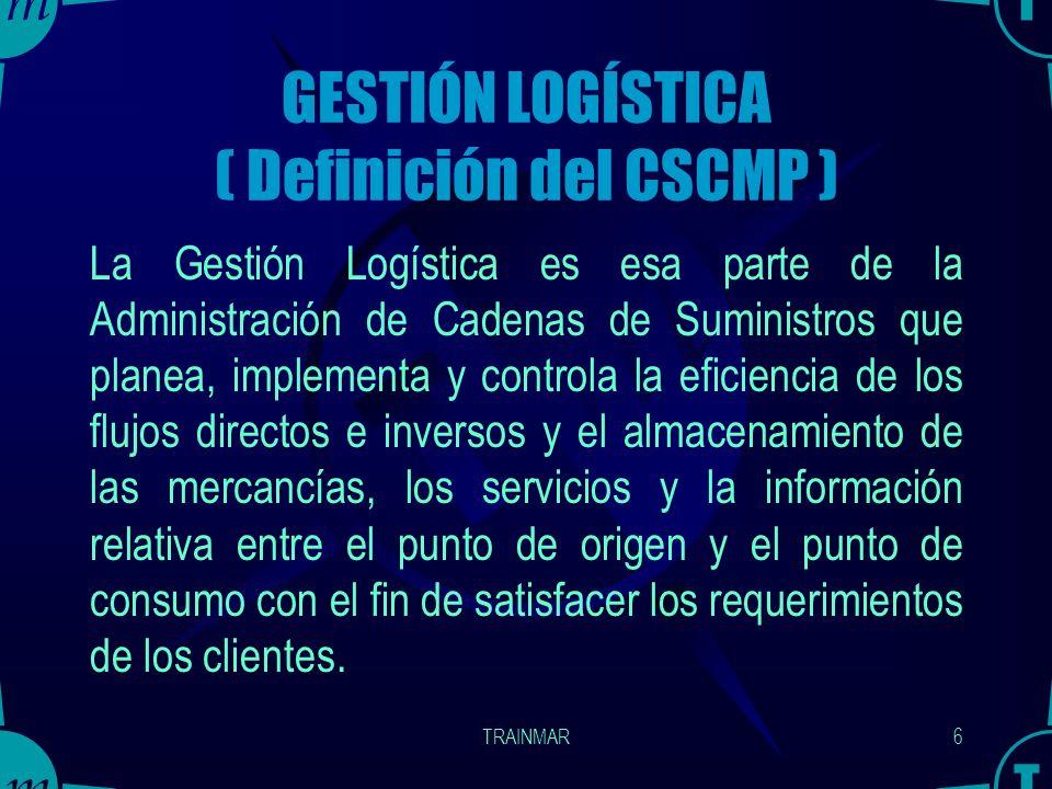 GESTIÓN LOGÍSTICA ( Definición del CSCMP )