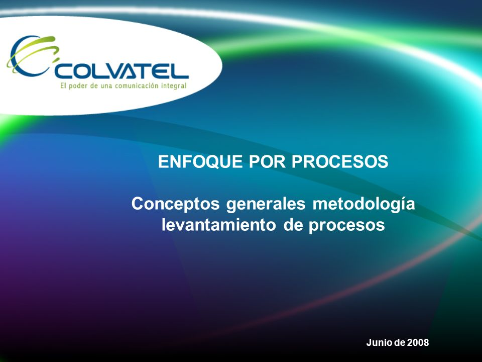 Conceptos generales metodología levantamiento de procesos