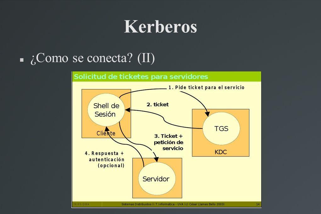 Kerberos ¿Como se conecta (II)