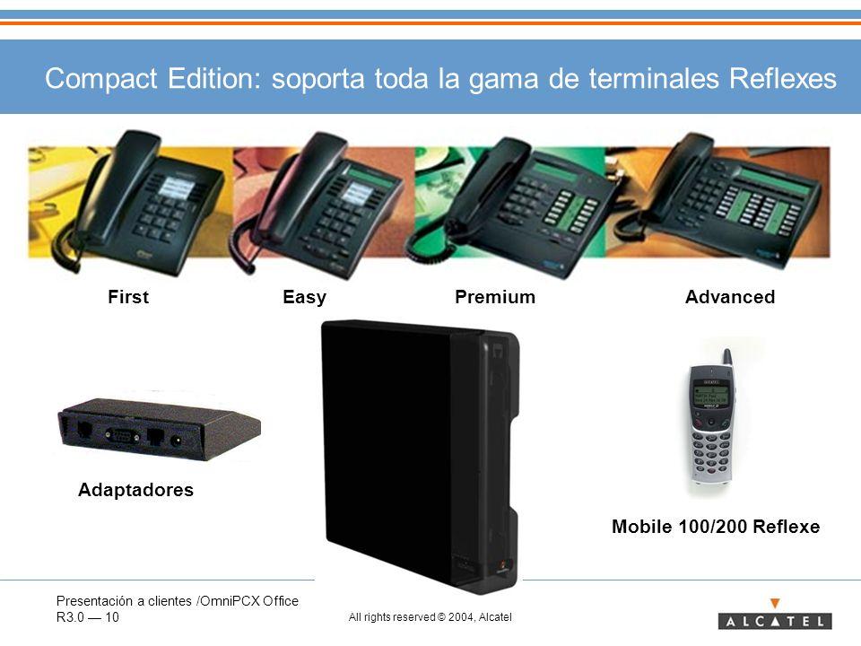 Compact Edition: soporta toda la gama de terminales Reflexes