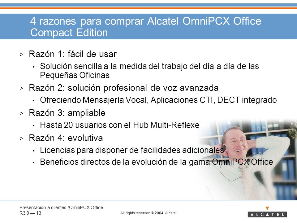 4 razones para comprar Alcatel OmniPCX Office Compact Edition