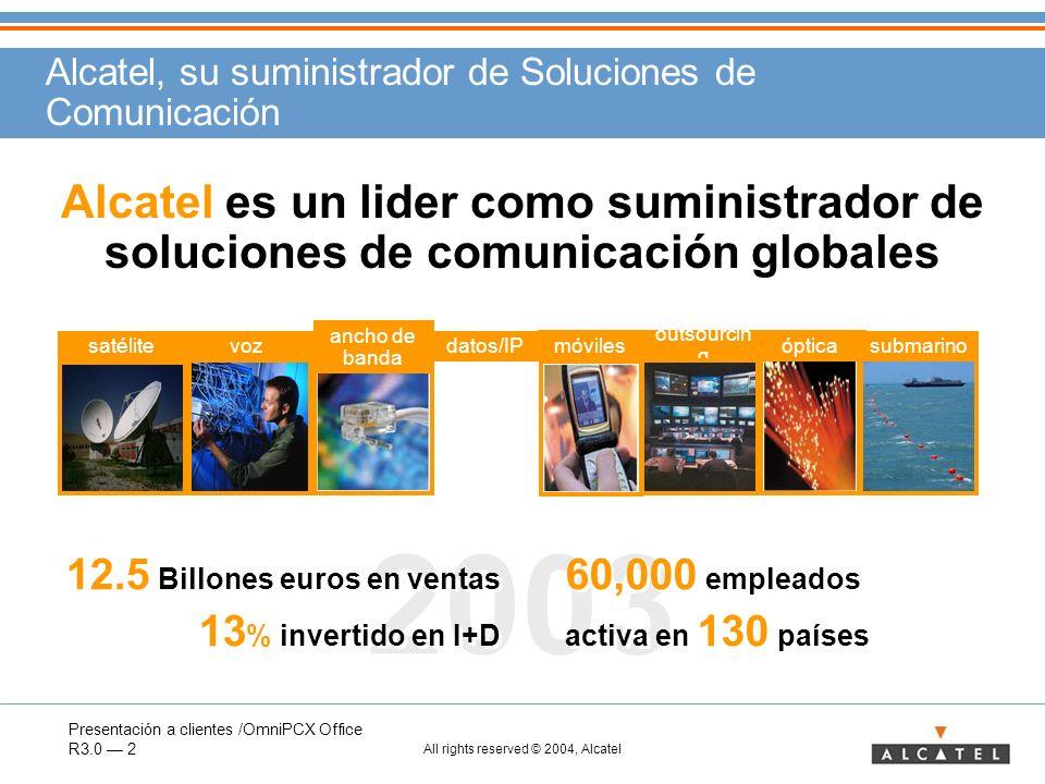 Alcatel, su suministrador de Soluciones de Comunicación