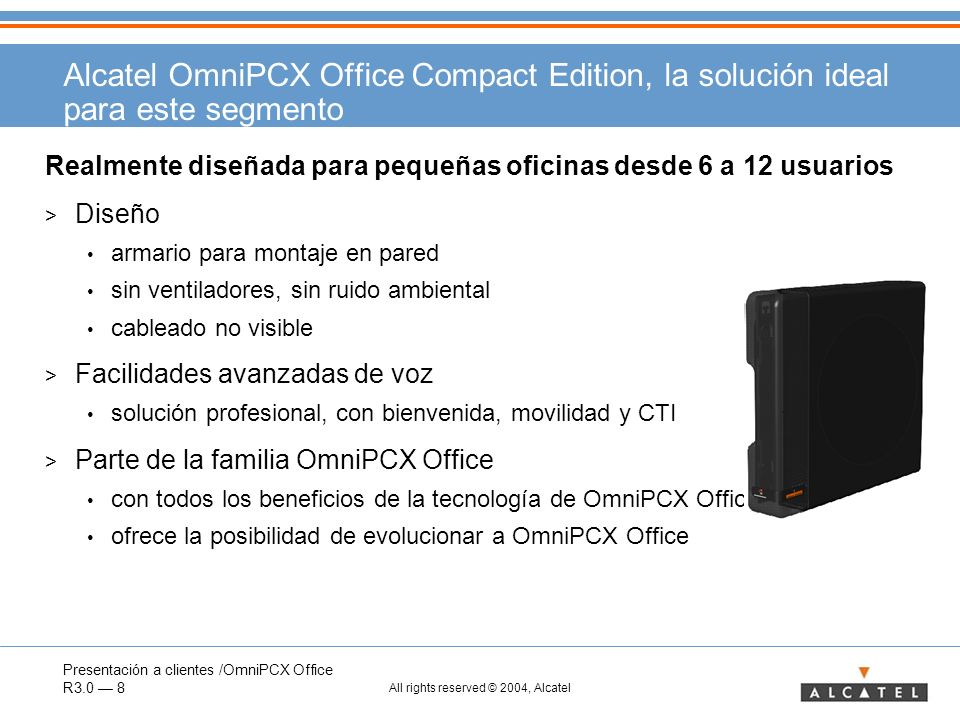 Alcatel OmniPCX Office Compact Edition, la solución ideal para este segmento