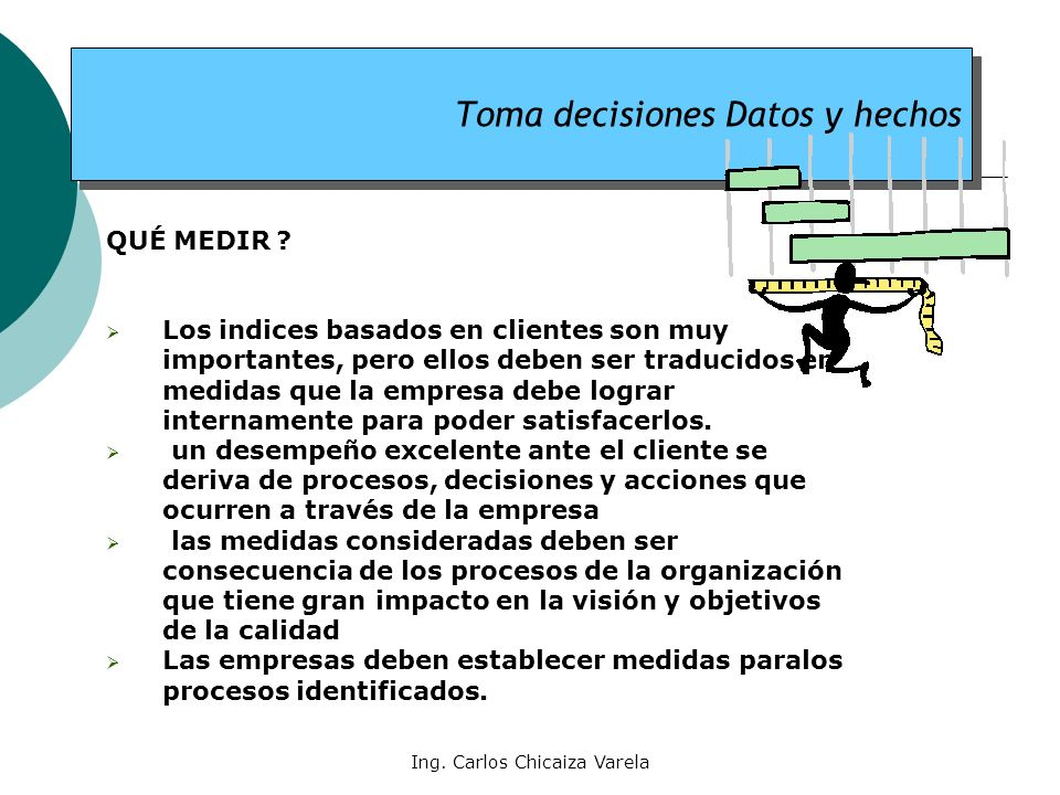 Toma decisiones Datos y hechos