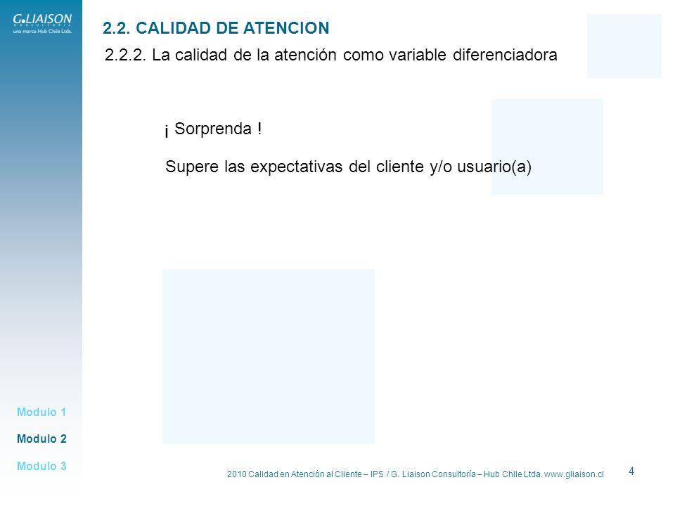2.2.2. La calidad de la atención como variable diferenciadora
