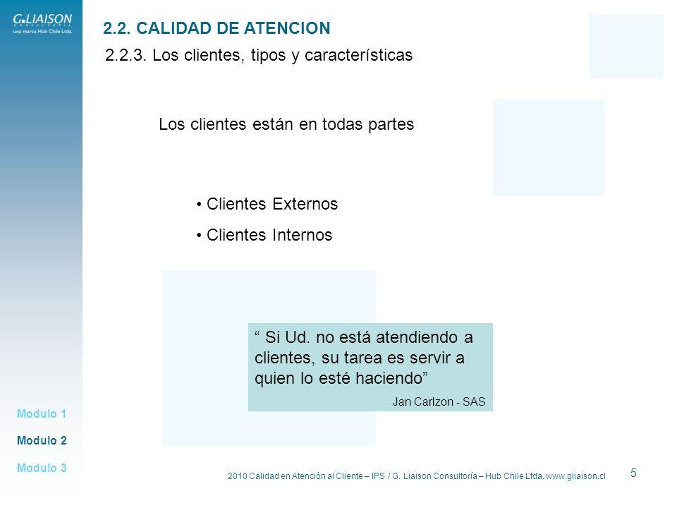 2.2.3. Los clientes, tipos y características