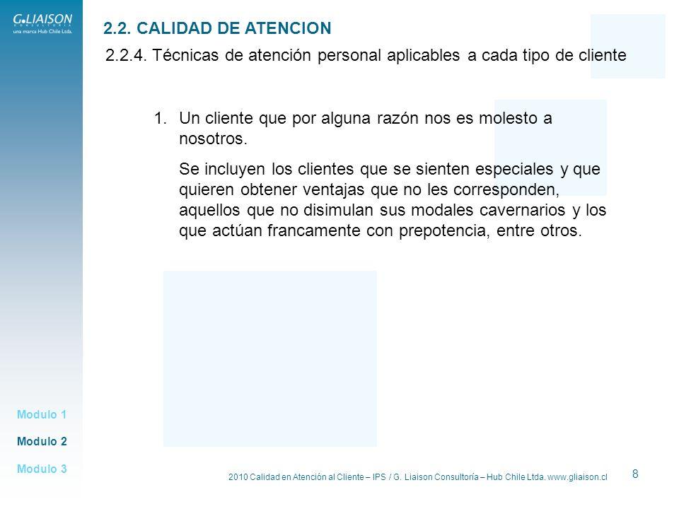 2.2.4. Técnicas de atención personal aplicables a cada tipo de cliente