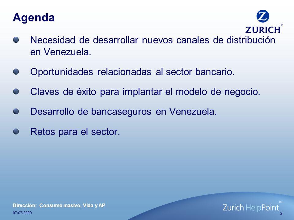 Agenda Necesidad de desarrollar nuevos canales de distribución en Venezuela. Oportunidades relacionadas al sector bancario.