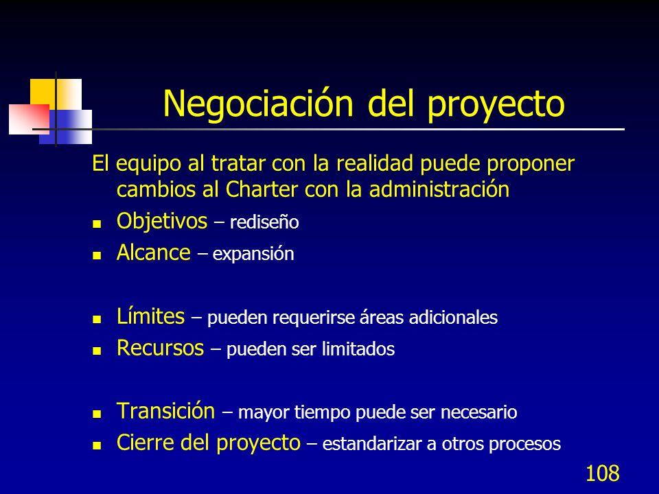 Negociación del proyecto