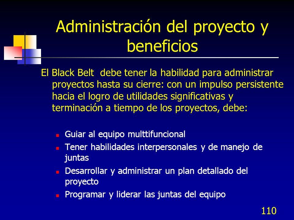 Administración del proyecto y beneficios