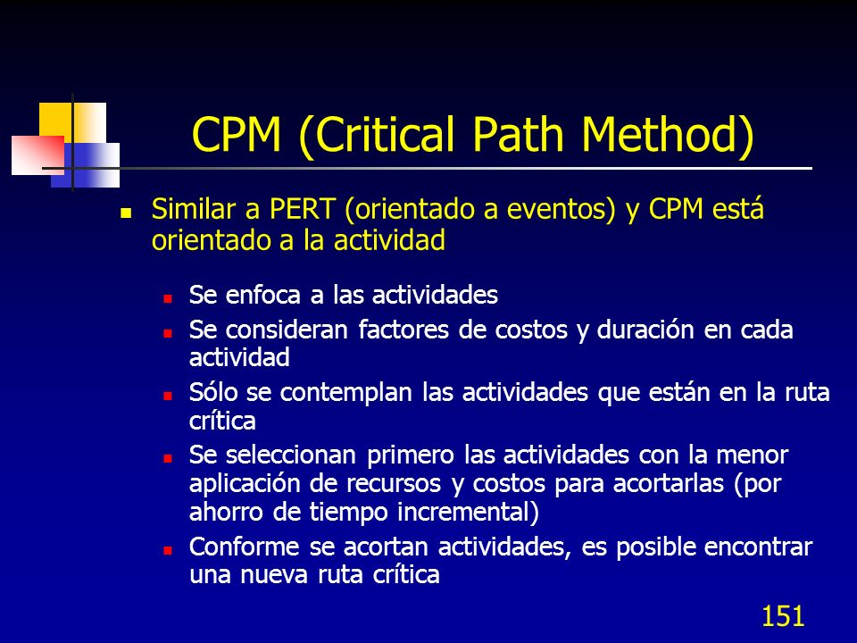 CPM (Critical Path Method)