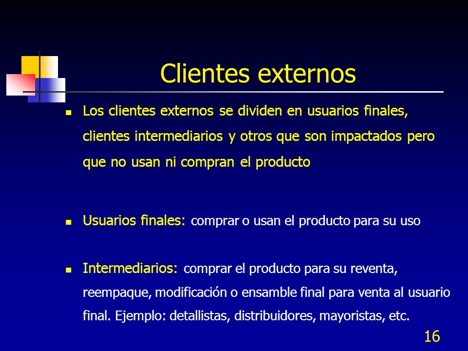 Clientes externos