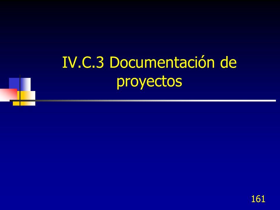 IV.C.3 Documentación de proyectos
