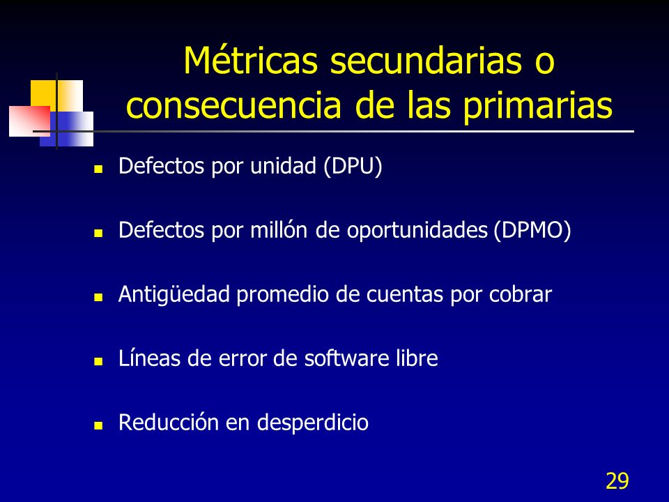 Métricas secundarias o consecuencia de las primarias