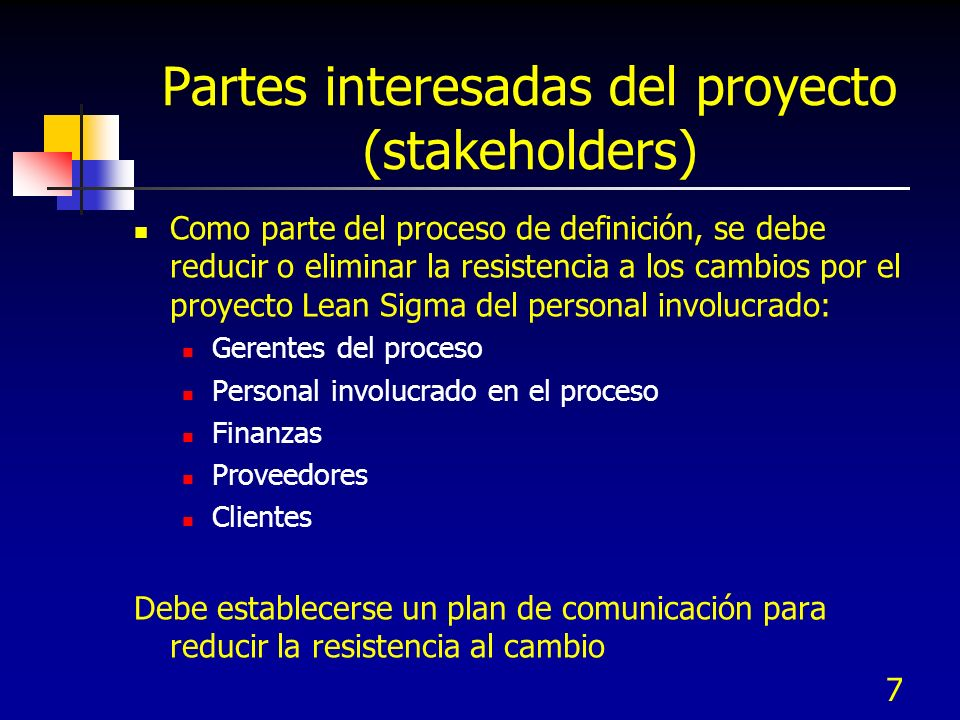Partes interesadas del proyecto (stakeholders)