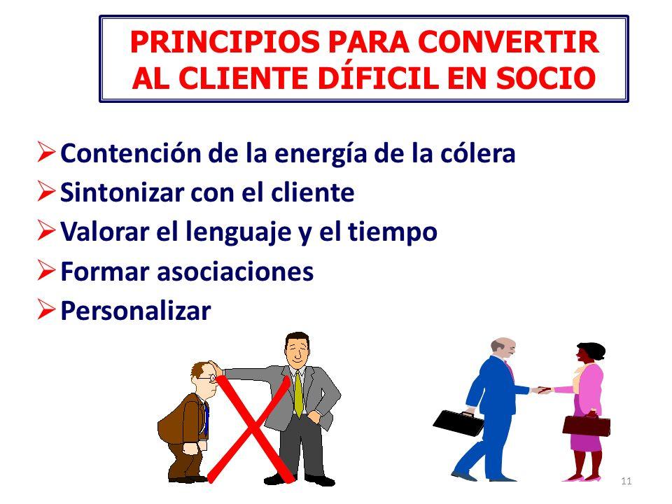 PRINCIPIOS PARA CONVERTIR AL CLIENTE DÍFICIL EN SOCIO