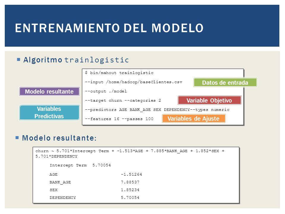 Entrenamiento del modelo