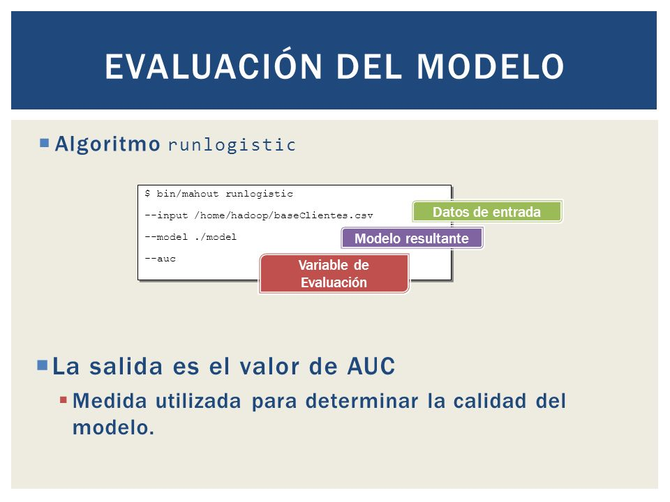 Variable de Evaluación