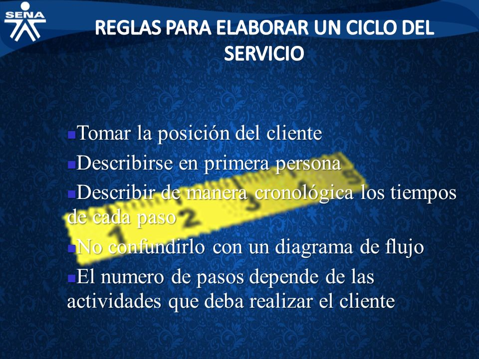 REGLAS PARA ELABORAR UN CICLO DEL SERVICIO