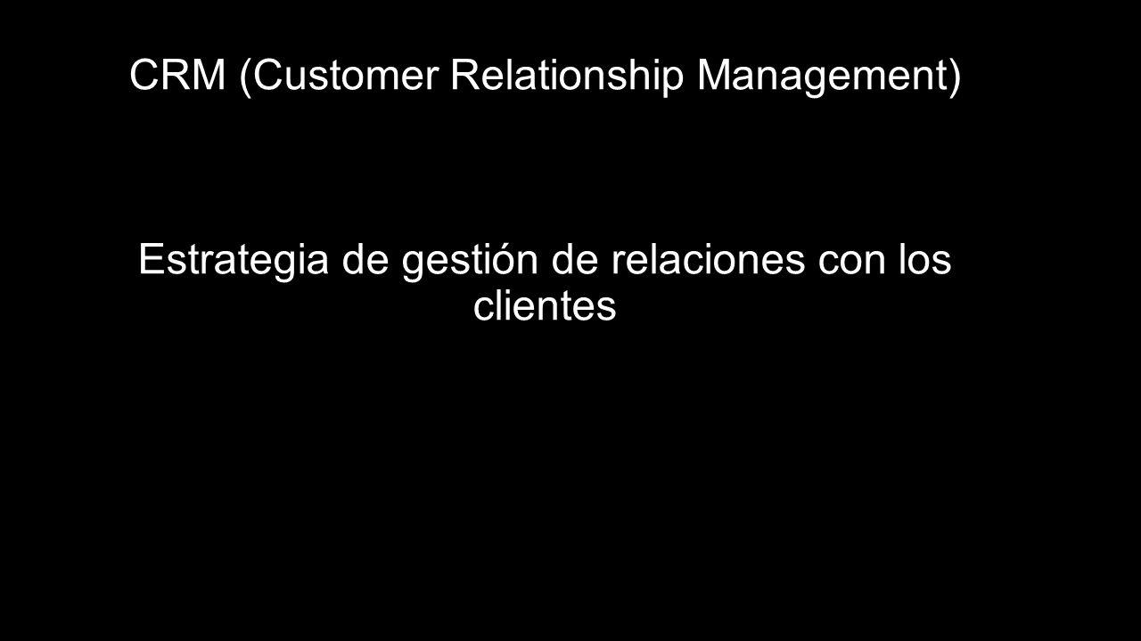 CRM (Customer Relationship Management) Estrategia de gestión de relaciones con los clientes
