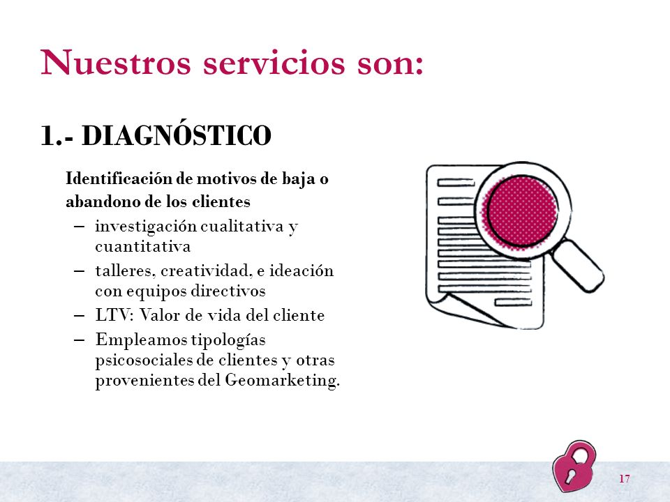 Nuestros servicios son: